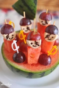Food ideas. Pirate Party. Jake and The Neverland Pirates. - Watermelon Pirates