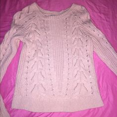 Lucky brand knitted shirt / sweater Light pink lucky brand knitted shirt / sweater can be worn either way , in like - new condition worn once not really my style feel free to comment if you'll like me to try it on for you small / medium Lucky Brand Sweaters V-Necks