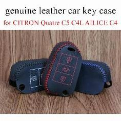 94321bfc08 fit for C-ITRON Q-uatre A-ILICE car key case leather hand sewing car key  cover new arrival