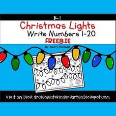 Numbers Kindergarten, Kindergarten Classroom, Classroom Activities, Kindergarten Christmas, Kindergarten Freebies, Classroom Freebies, Kindergarten Writing, Line Math, Light Writing
