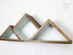 Triangle crystal shelf - painted inside