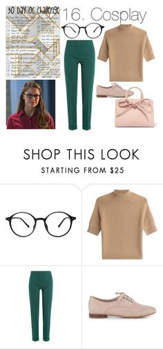 """""""16. Cosplaying Kara Danvers"""" by seabassstan ❤ liked on Polyvore featuring Theory, Etro, Clarks and Mansur Gavriel"""