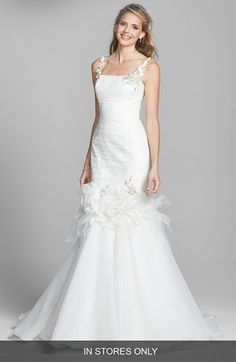 Badgley Mischka Bridal 'Grace' Embellished Tulle & Chiffon Mermaid Dress (In Stores Only) | Nordstrom $3,850.00