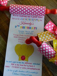 Cocina fiesta invitación hornada por ForTheLoveOfPaperTX en Etsy
