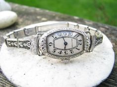 Christy -- this vintage watch is so lovely! Elegant Art Deco Waltham Women's Watch  Solid 18K by Franziska, $410.00