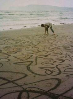 Andy Goldsworthy,  land art. Art as play- first find a nice quiet beach!