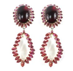 1950's Schreiner Earrings by House of Lavande.  pretty wine-colored jewels for the holidays! @Taigan Penny
