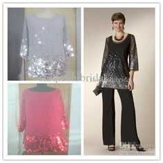 2014 Mother of the Bride Pants Suits Actual Image Black Sequins with Jacket Chiffon Mother of the Bride Dresses 2014 Formal Evening Dresses, $109.66 | DHgate.com Evening Pant Suits, Black Party Dresses, Dresses 2013, Dresses Online, Mothers Dresses, Bride Dresses, Cheap Evening Dresses, Groom Outfit, Black Sequins