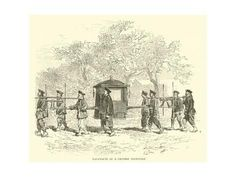 Giclee Print: Palanquin of a Chinese Dignitary : 24x18in