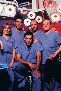 Chicago Hope .. very quirky & sometimes hilarious... I remember once the cast did a take-off of the opening of ER, which was a lightening quick collage of the ER stars doing their ER work.......Chicago Hope copied using their own stars.... wunderbar!!