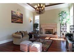 Family Room, check out these 11 foot ceilings on the first floor!
