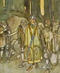 Fionn mac Cumhaill (Finn MacCool), one of the key leaders of the Fianna. Read more about the Cycle of Kings on Ireland Calling