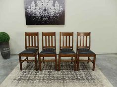 Mission Solid Tiger Oak Slat Back Dining Chairs from Antiques By Design Antique Dining Chairs, Mountain, Antiques, Furniture, Design, Home Decor, Antiquities, Antique, Decoration Home