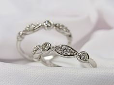A new style of amazing wedding bands now available in store from our Bridal Collection! more info at www.huntvalleyjewelers.com
