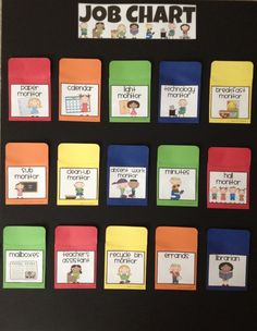 Easy classroom job chart! Use Popsicle sticks.