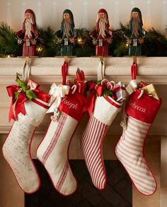 Our Christmas Countdown Continues With One Of Our Favorite Decor Pieces, Christmas Stockings! Christmas Mantels, Noel Christmas, Country Christmas, All Things Christmas, Winter Christmas, Christmas Crafts, Christmas Decorations, Holiday Decor, Christmas Tables