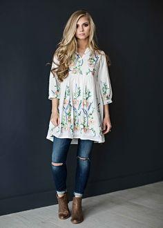 embroidered shirt, blonde, hair, style, fashion, ootd, womens fashion, shop, jessakae