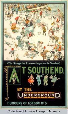 southend on sea vintage poster