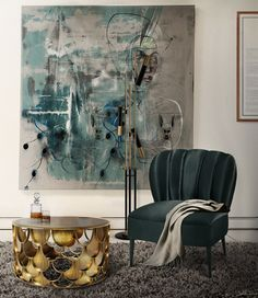 Koi is a modern round coffee table with a bronze glass top and a brushed aged brass base. Contemporary Home Furniture, Luxury Furniture, Contemporary Design, Furniture Design, Grey Furniture, Inspiration Design, Interior Inspiration, Design Ideas, Room Inspiration