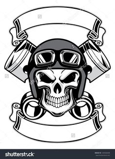 Resultado de imagem para skull wearing retro motorbike helmet