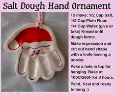 Santa Hand Ornament for kids!