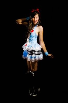 Alice in Wonderland Halloween Costume featuring a sexy lost in wonderland dress!