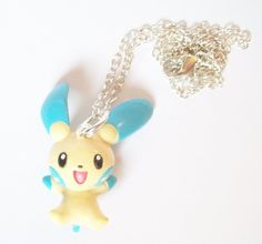 Pokemon Minun Necklace - Anime - Gamer - Kawaii - Video Games  £5.00  nerdy - nerd jewelry - pokemon jewelry - pokemon necklace