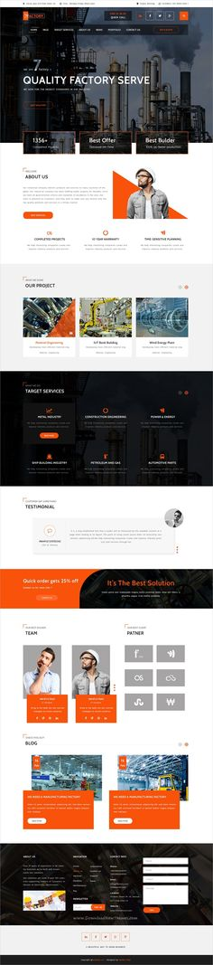 7fACTORY is a wonderful PSD template for #webdev  Industry, #Factory, #construction, building companies or mechanical services companies website download now➩ https://themeforest.net/item/7factory-industrial-manufacturing-psd-template/19350568?ref=Datasata
