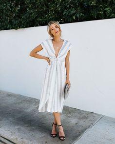 Gossamer Cotton Twist Dress - Ivory
