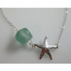 Starfish and Seaglass Necklace