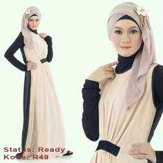 Baju Maxi Dhabi dan Pashmina 270868
