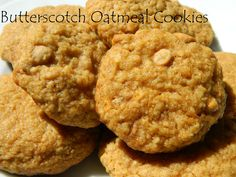My Favorite Things: Chewy Butterscotch Oatmeal Cookies