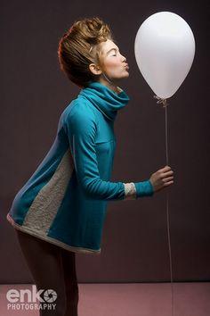 retro fashion editorial balloon