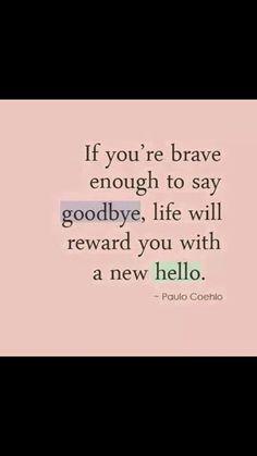 My new hello says hi to my goodbye...... Small world...