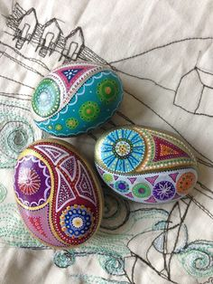 Jane Mitchell-Finch - Anything Arty, pattern pebbles