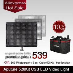 540.00$  Buy now - http://ali4zl.worldwells.pw/go.php?t=1908036732 - Aputure LED video camera light panel light AL-528C+AL-528S+AL-528S 528KIT-CSS LED photography studio light photograph kit