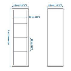 KALLAX Scaffale, bianco - 42x147 cm - IKEA