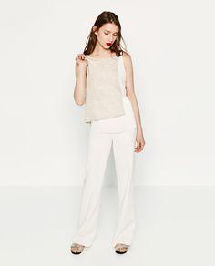 Imagen 1 de TOP DOBLE TEJIDO de Zara