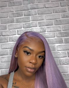 Preferred Human Hair Light Purple Lace Front Wigs Long Straight Remy Hair for Women Baddie Hairstyles, Black Girls Hairstyles, Weave Hairstyles, Hairstyles Videos, Simple Hairstyles, Everyday Hairstyles, Formal Hairstyles, Ponytail Hairstyles, Straight Hairstyles