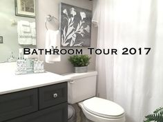 Bathroom Makeovers Youtube guest bathroom tour | tips & decor ideas to get your bathroom