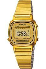 4df95a1cb0f7 Casio retro dorado. Funciones clásicas de reloj. Cronómetro.