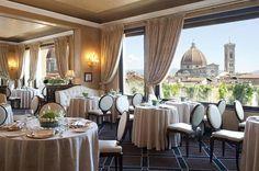 Beautiful resturant inside Grand Hotel Baglioni Florence