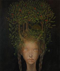 Green - painting - surreal - ishibashi