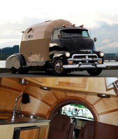 Futuristic Custom Made Motorhome. Truck Camper, Camper Trailers, Camper Van, Cabover Camper, Cool Trucks, Big Trucks, Chevy Trucks, General Motors, Cool Rvs