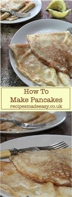 How To Make English Pancakes Traditionally eaten on shrove Tuesday – Pancake Day! Enjoy these English style pancakes any time with Recipes Made Easy Step by Step via Recipes Made Easy – Jacqueline Bellefontaine Pancake Day, Breakfast Pancakes, Pancakes And Waffles, Breakfast Recipes, Vegan Pancakes, Brunch Recipes, English Food, English Style, English Recipes