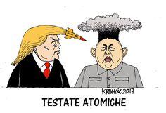 #DonaldTrump e #KimJongUn: l'un contro l'altro armato. #nuclearwar #NuclearOption #nuclearban