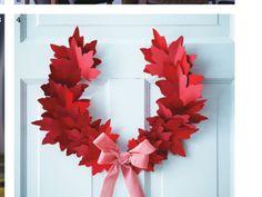 Resultado de imagen de hojas de maple de papel para guirnaldas