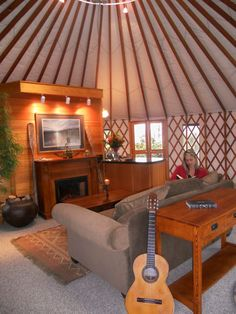 Via yurts.com  I want a yurt!