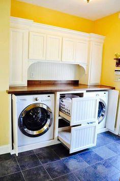 Creative laundry room storage