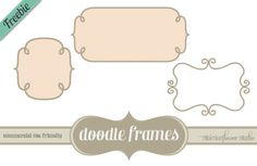 Freebie! Doodle Frame Borders - Comes with Vectors, Brushes & Photoshop Shapes